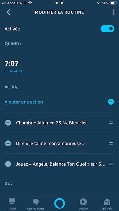 Alexa réveil comment créer une routine Amazon Echo [tuto]