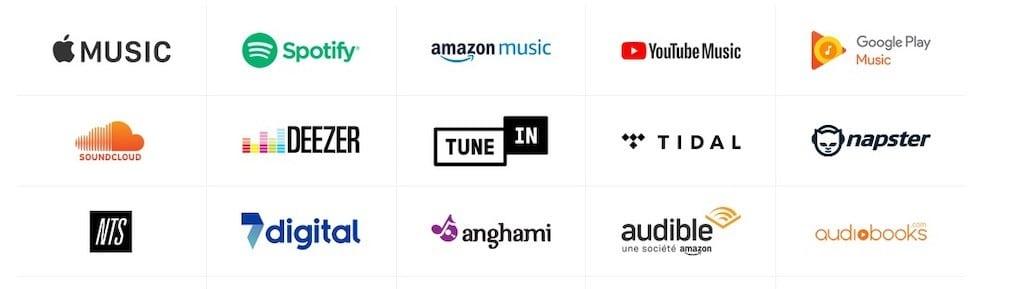 Sonos Architectural service streaming compatible