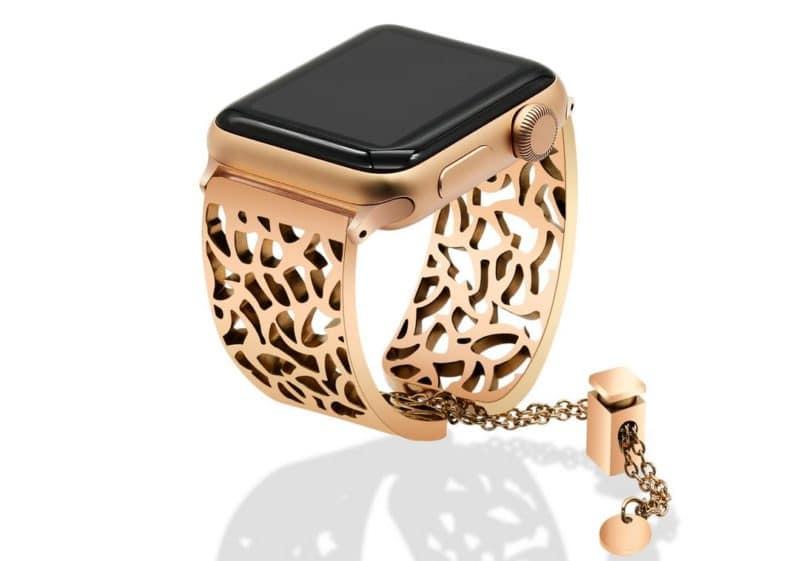 Accessoire Apple Watch bracelet bijou or ou argenté