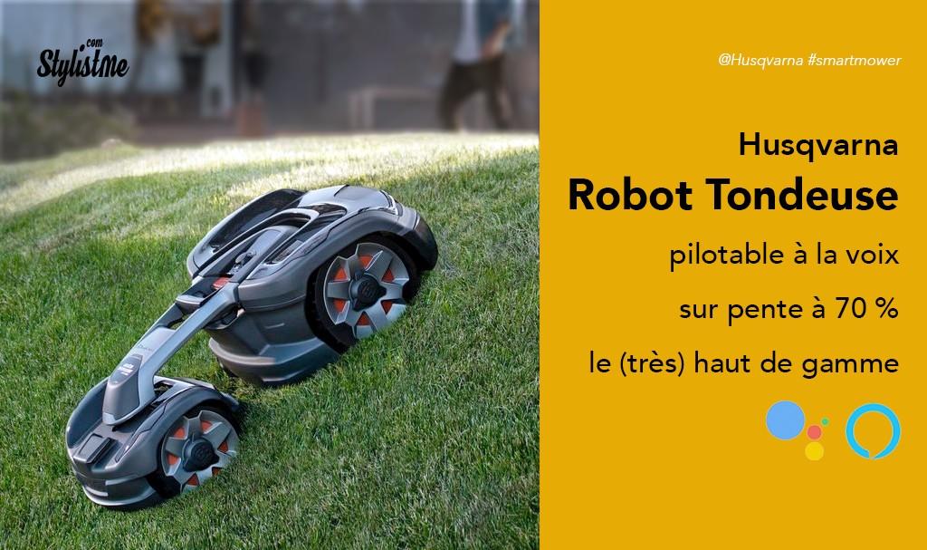 Husqvarna robot tondeuse Automower 435X AWD pilotable à la voix
