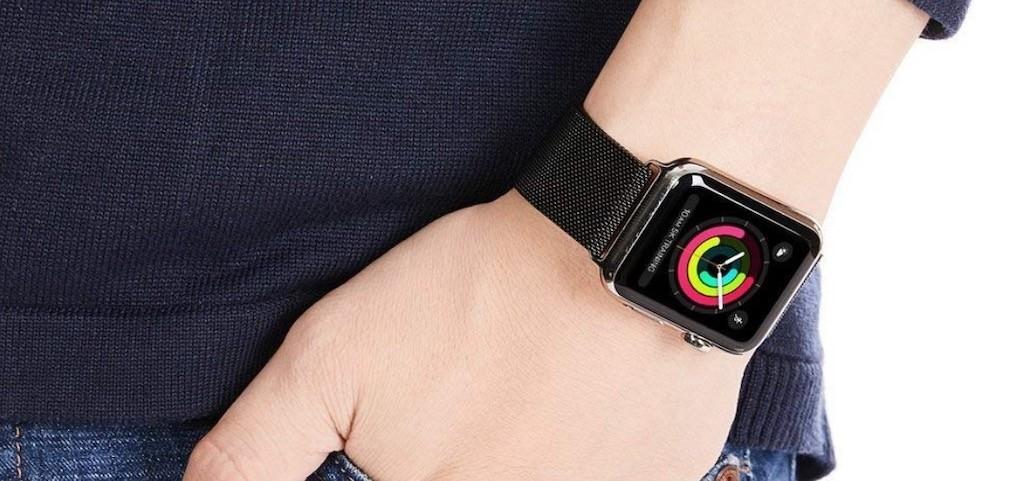 Meilleurs accessoires Apple Watch bracelet maille milanaise