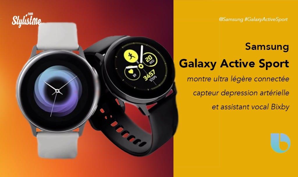 Samsung Galaxy Active Sport prix avis test montre connectée
