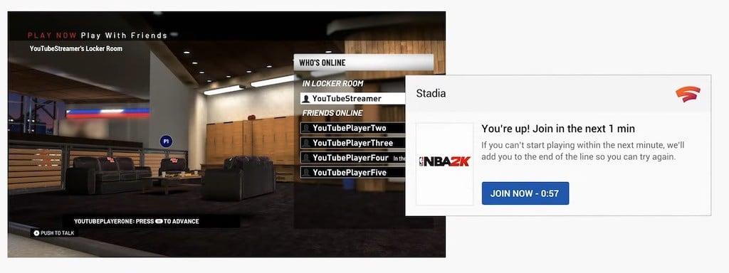 Stadia rejoindre un jeu en direct