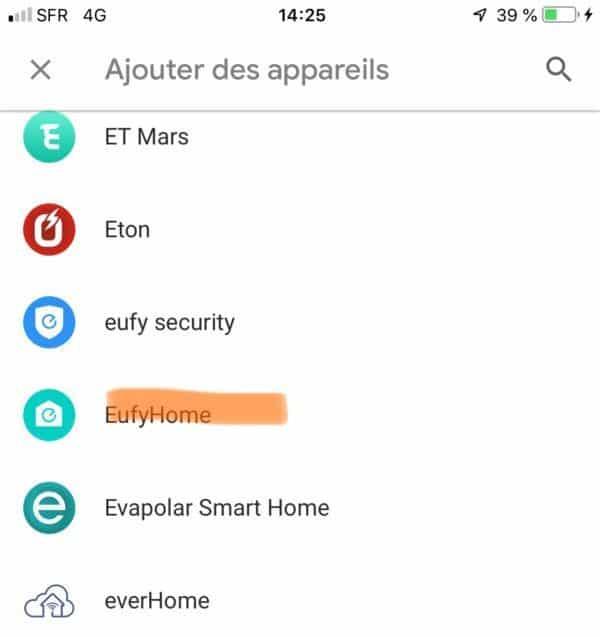 eufy lumos connexion google assistant commande vocale