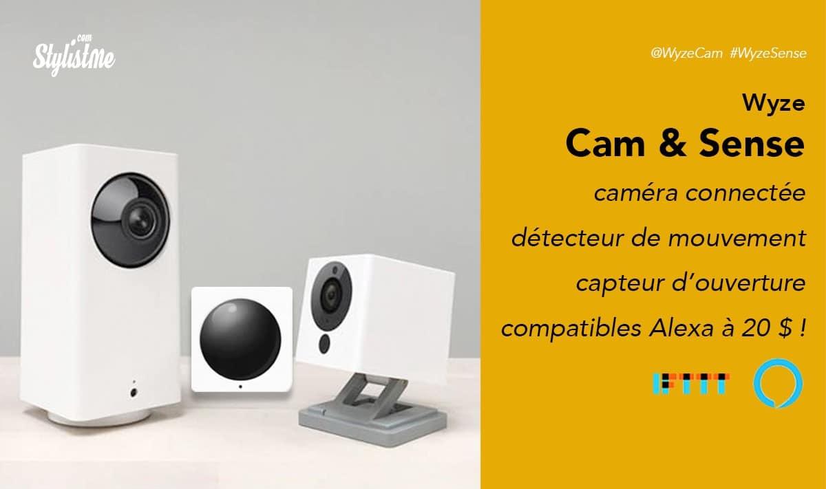 Wyze Sense Wyse Cam détecteurs et caméras connectés avec Alexa à 20 €