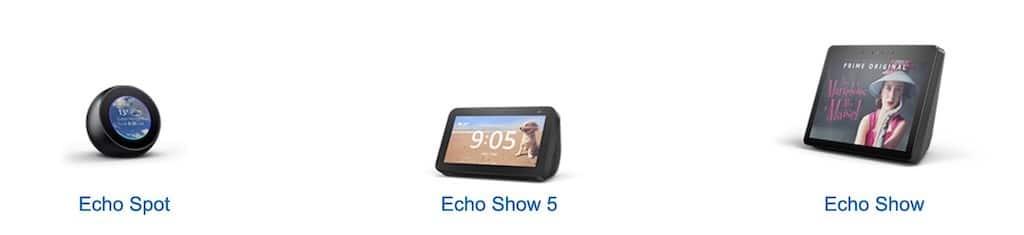 Amazon Echo Show 5 comparatif enceintes amazon echo