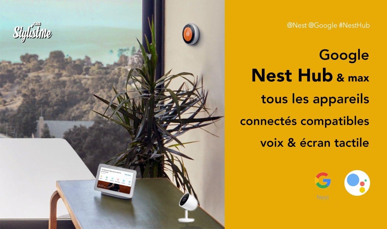 Appareils compatibles Nest Hub et Nest Hub Max