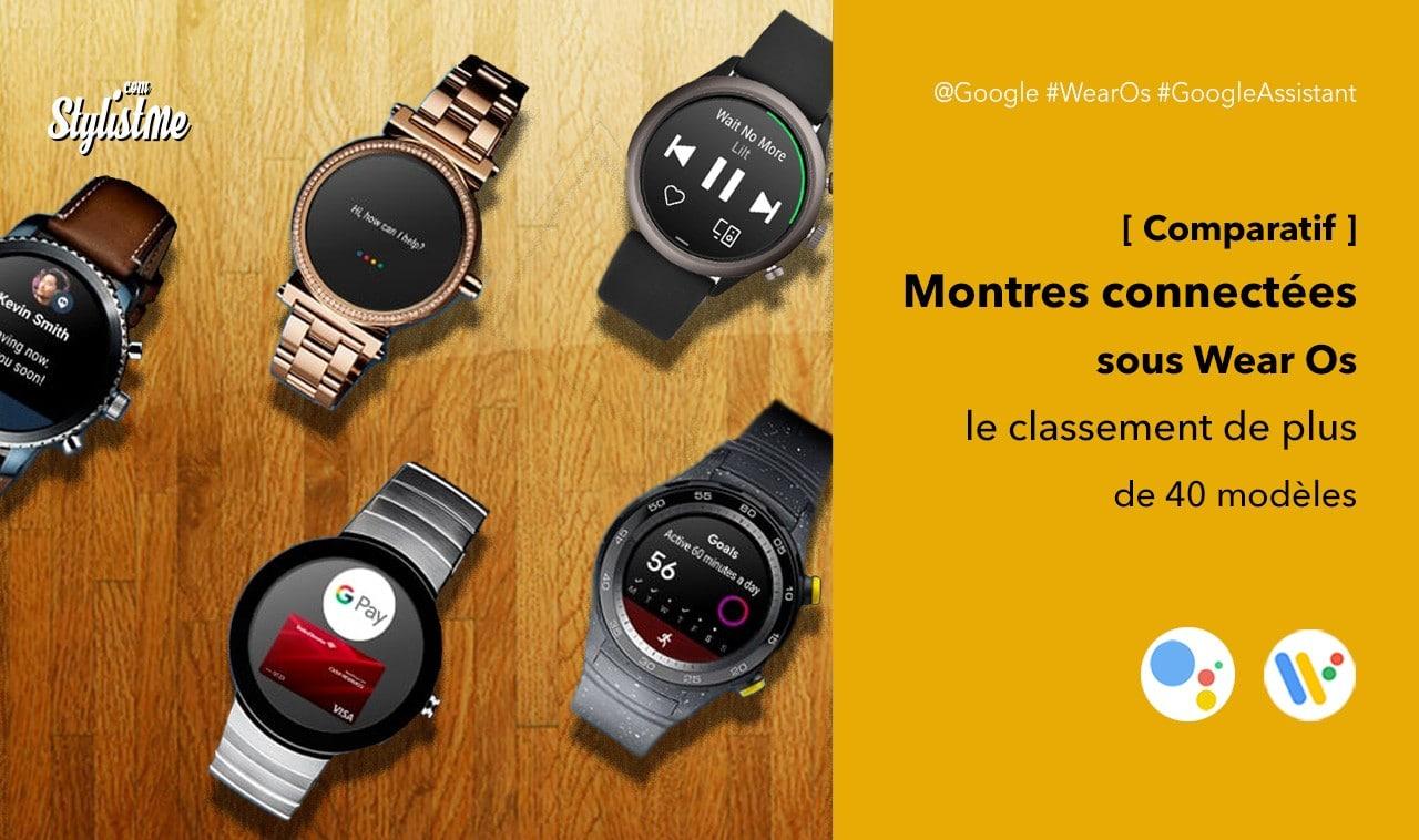 Comparatif montres Wear Os pour smartphones Android ou iOS