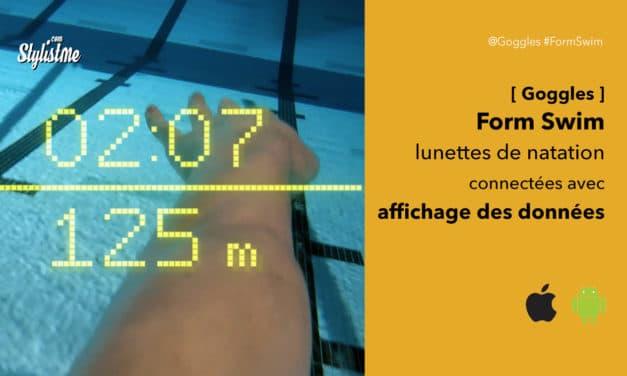 Form Swim Goggles lunettes de natation avec réalité augmentée