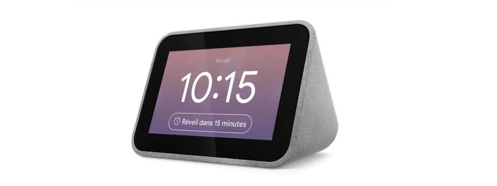 Lenovo smart clock avis prix test radio réveil connecté