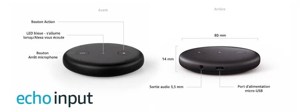 Amazon Echo Input couleur LED