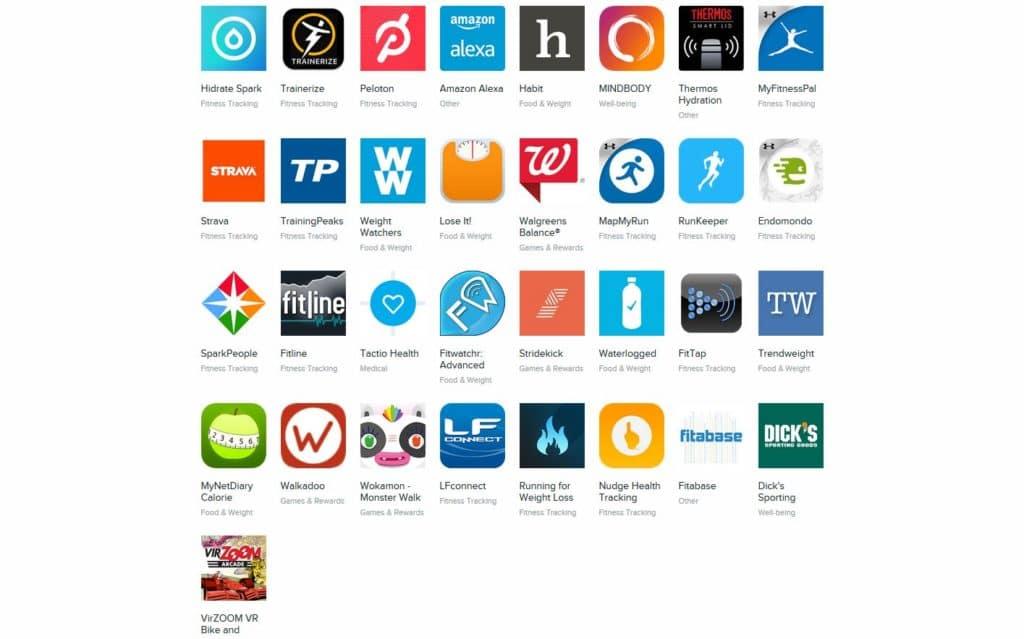 app compatibles fitbit