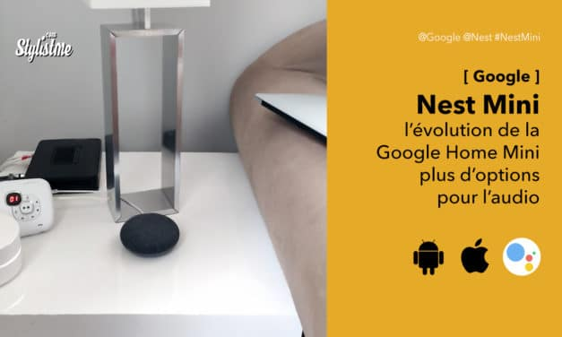 Nest Mini la version améliorée de l'enceinte vocale Google Home mini