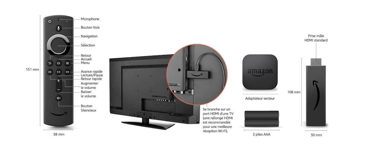 Fire Tv Stick 4K notice télécommande