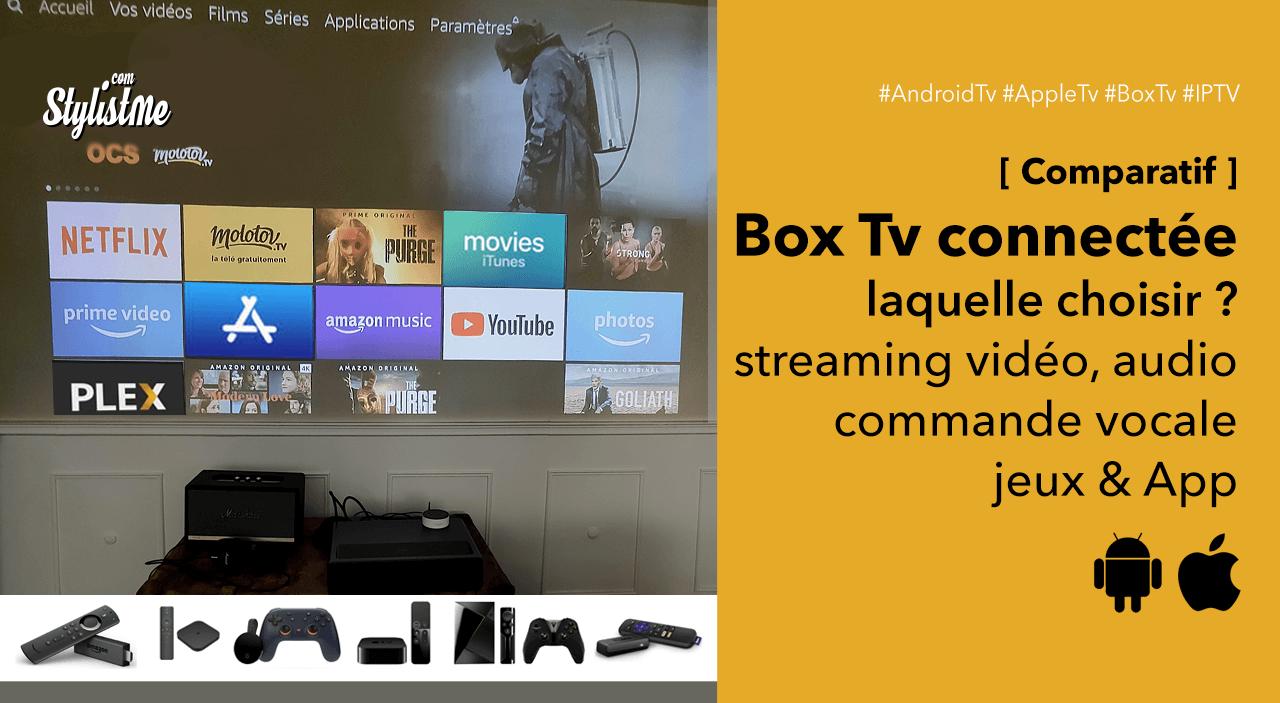 Meilleure box TV Connectée Android Apple Nvidia Amazon Google