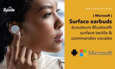 Microsoft Surface Earbuds écouteurs sans fil tactiles à commande vocale