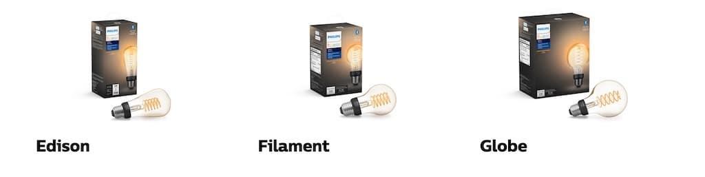 Ampoule filament Philips Hue Edison Globe