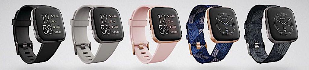Fitbit Versa 2 comparatif montre connecte concurrente Apple