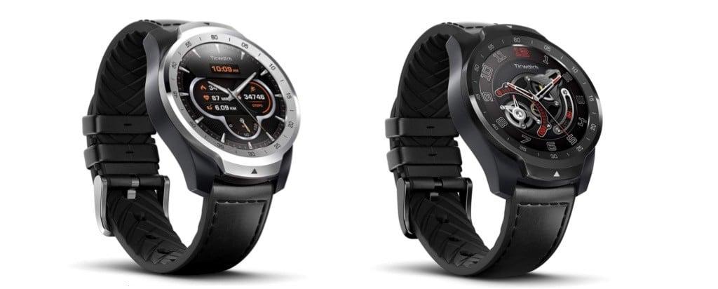 Ticwatch Pro comparatif montre connectée Wear OS