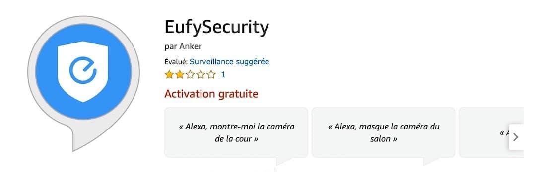 EufyCam compatible Alexa skil eufy Security