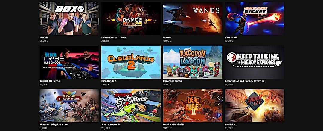 meilleurs jeux multijoueur oculus quest