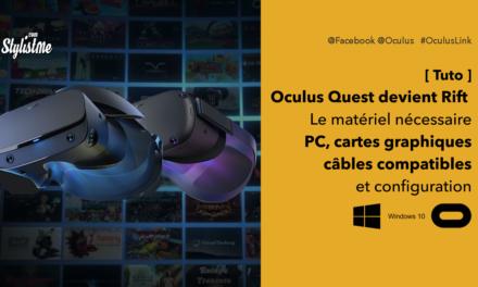 Oculus Link câbles compatibles, cartes, spécifications PC et configuration