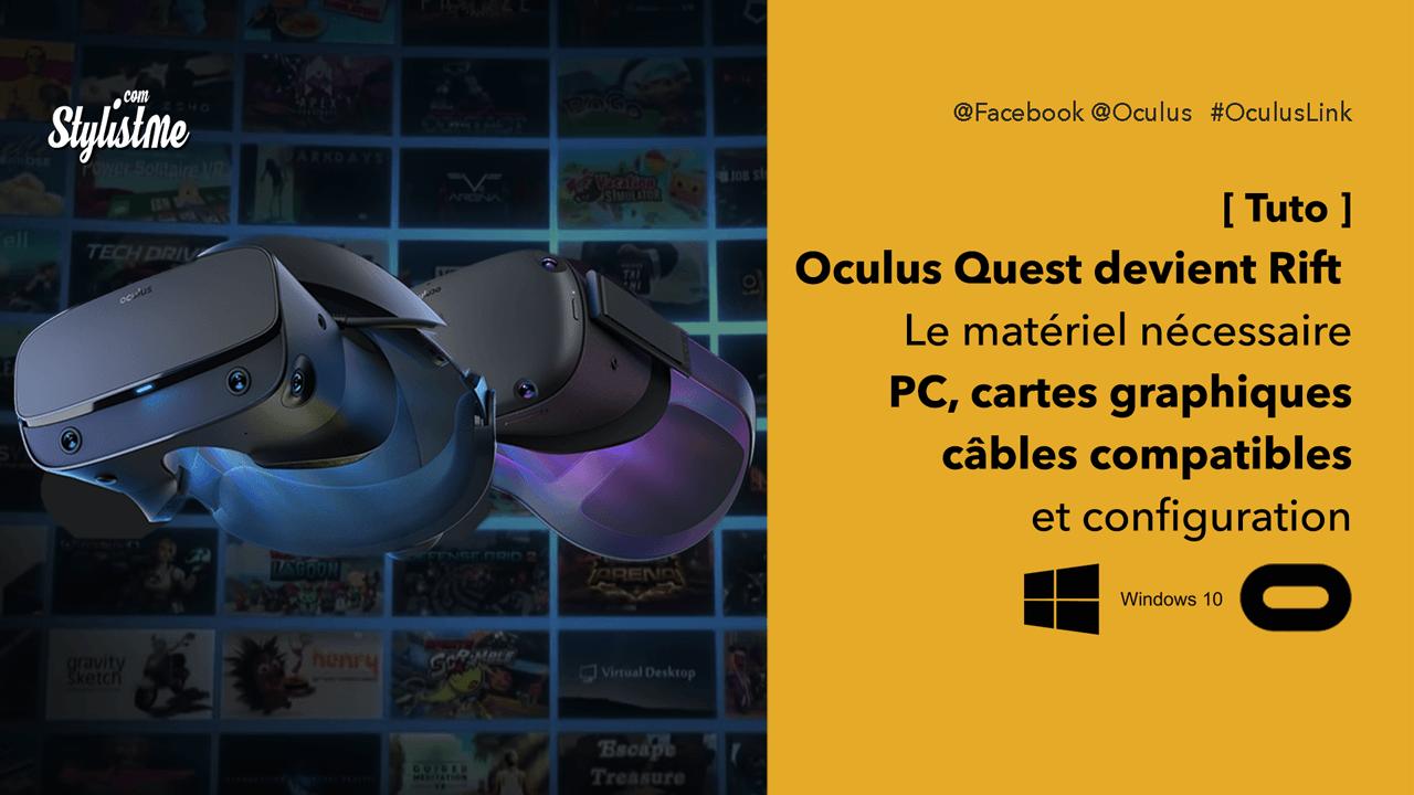 Oculus Link spécifications configuration