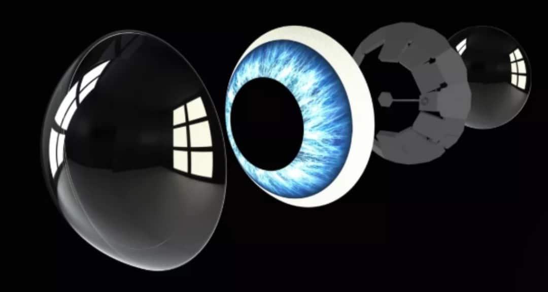Mojo Lens lentilles de contact connectées micro LED iris