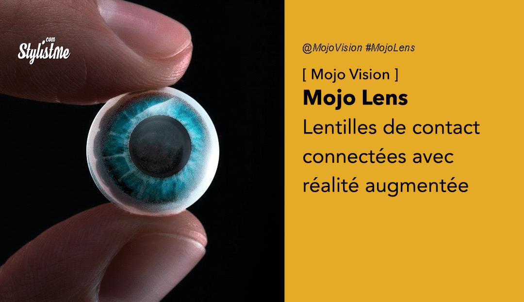 Mojo Lens lentilles de contact connectées avec AR de Mojo Vision