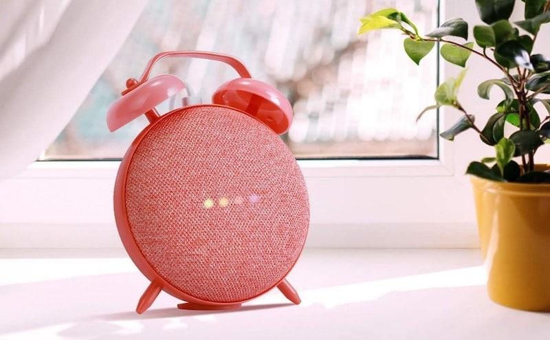 support table de nuit Google mini Nest mini réveil