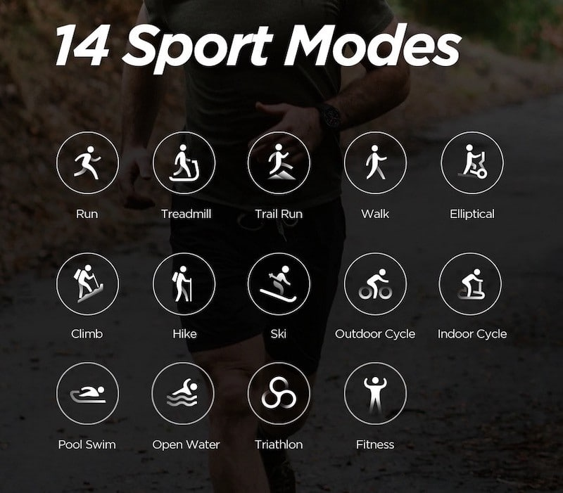 T-Rex Huami suivi 14 sports