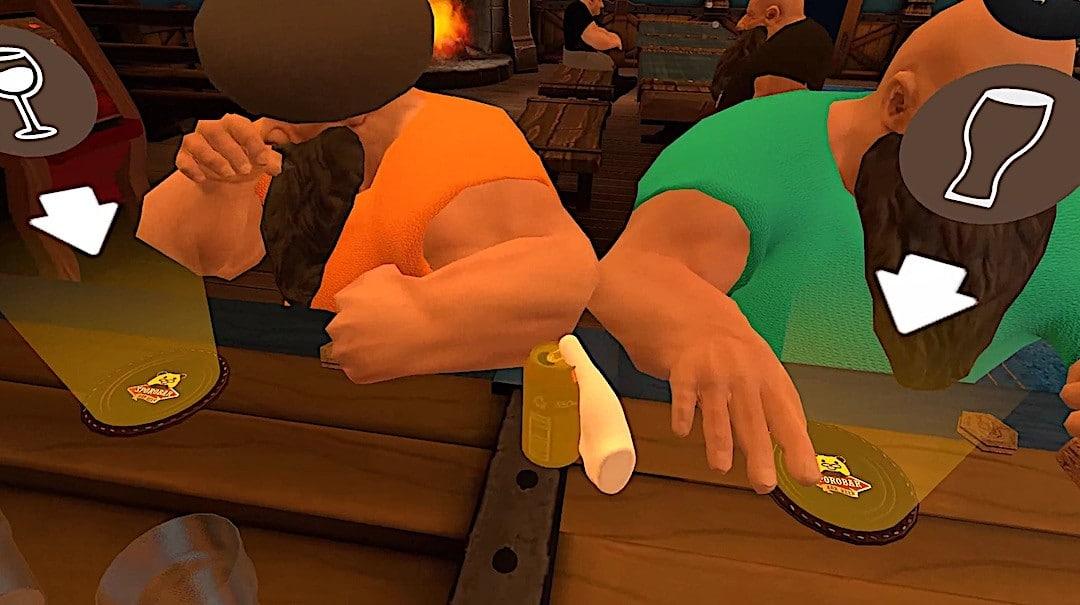 Taphouse VR jeu gratuit VR bar humour