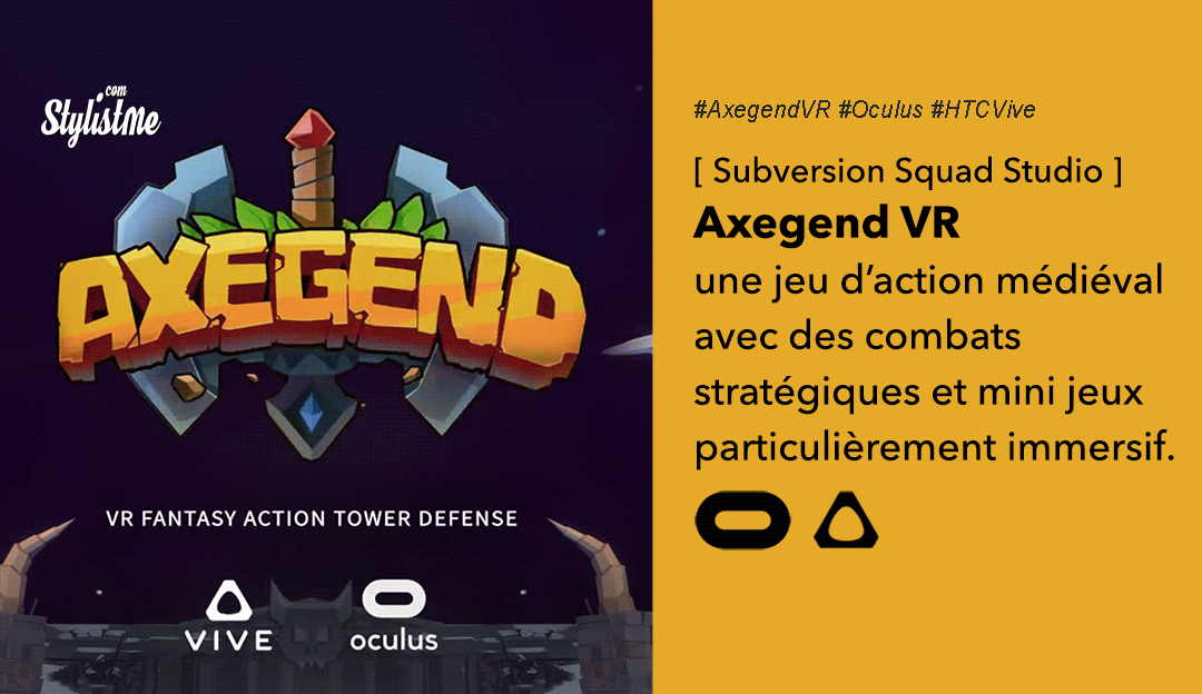 Axegend VR avis test prix date Oculus HTC Vive