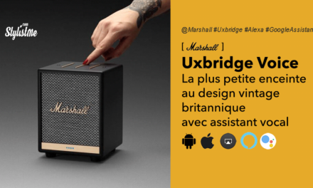 Marshall Uxbridge Voice la mini enceinte Alexa ou Google Assistant