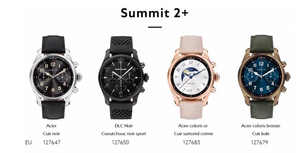 Montblanc Orange montre connectée eSIM Summit 2 plus