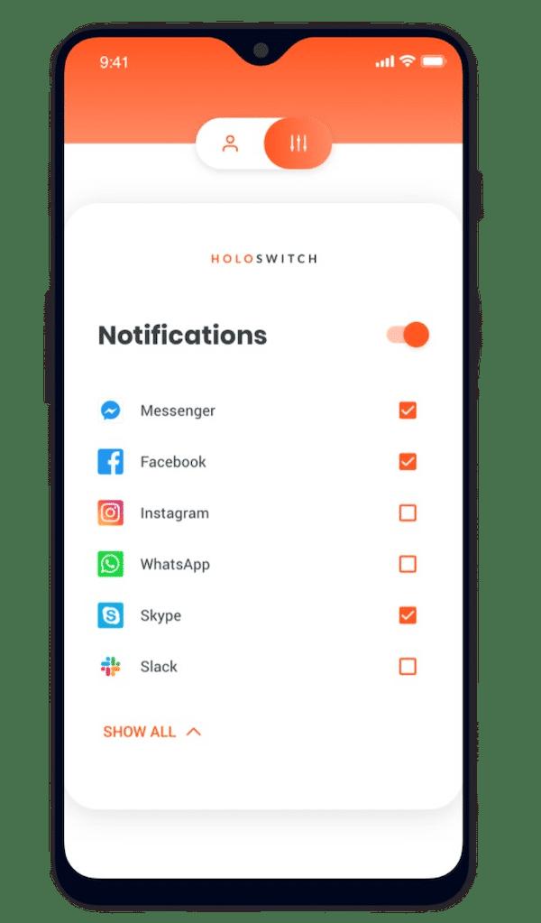 notification smartphone en VR