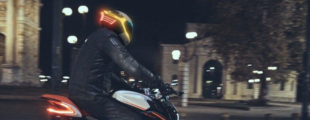 Tali casque moto connecté LED urgence