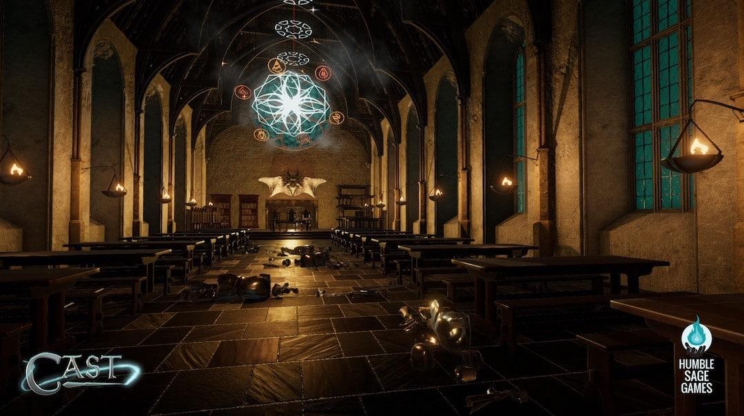 Castle VR jeu aventure action Oculus HTC Vive magie sort