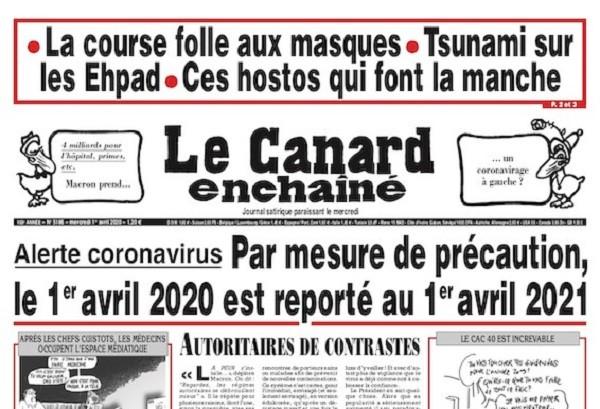 Poisson d'avril 2020 communication humour coronavirus
