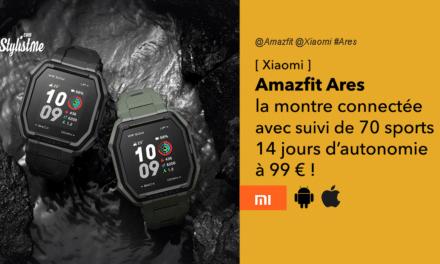Amazfit Ares la montre connectée hyper équipée à moins de 99 €