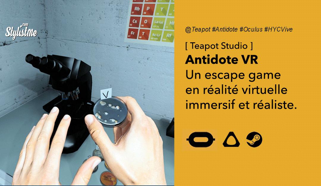 Antidote VR escape game réalité virtuelle Oculus HTC Vive