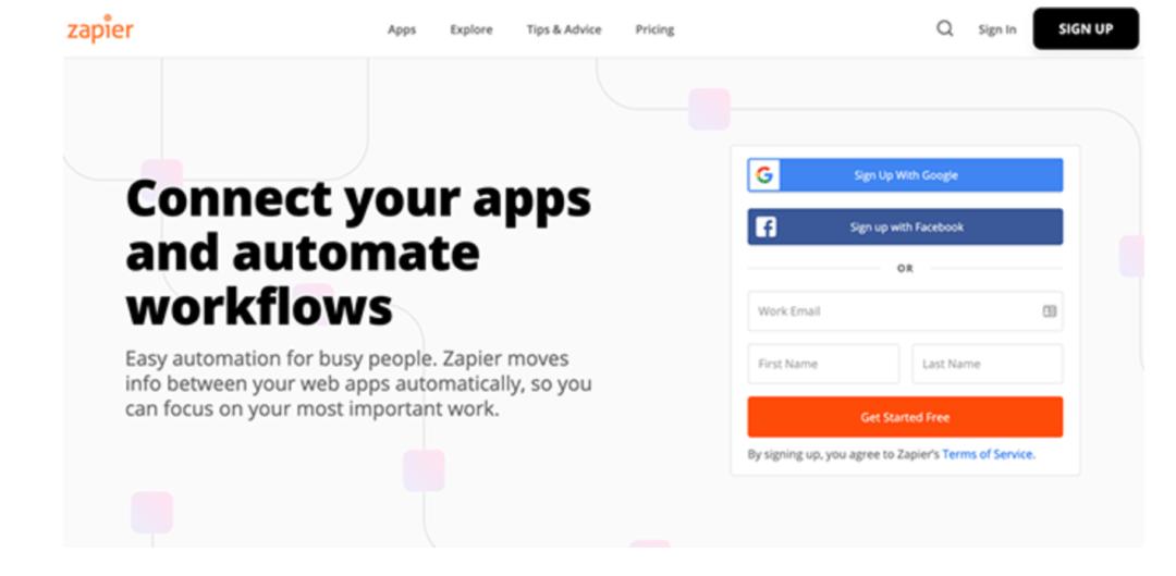 Zapier outils d'automatisation pour réseaux sociaux