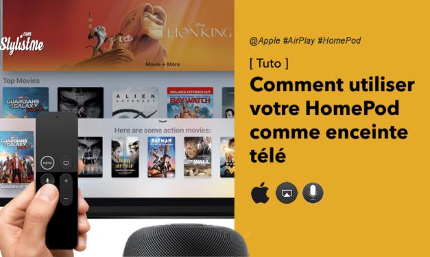 Comment utiliser Apple HomePod comme enceinte télé ?