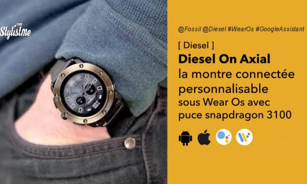 Diesel On Axial la montre connectée massive et originale