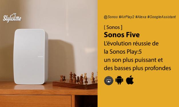 Sonos Five l'enceinte connectée plus puissant que la Sonos Play:5