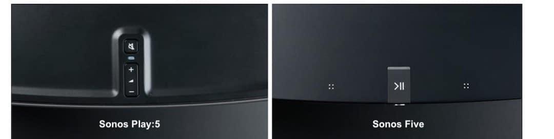 comparaison Sonos Play 5 et Sonos Five