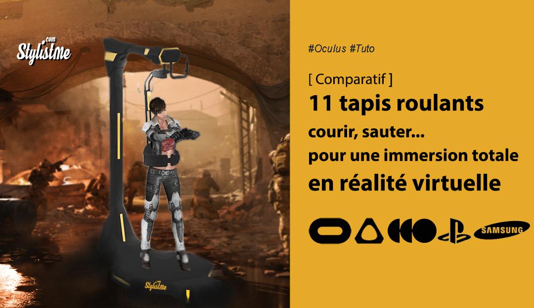 Comparatif tapis roulants pour casques en réalité virtuelle ou treadmill
