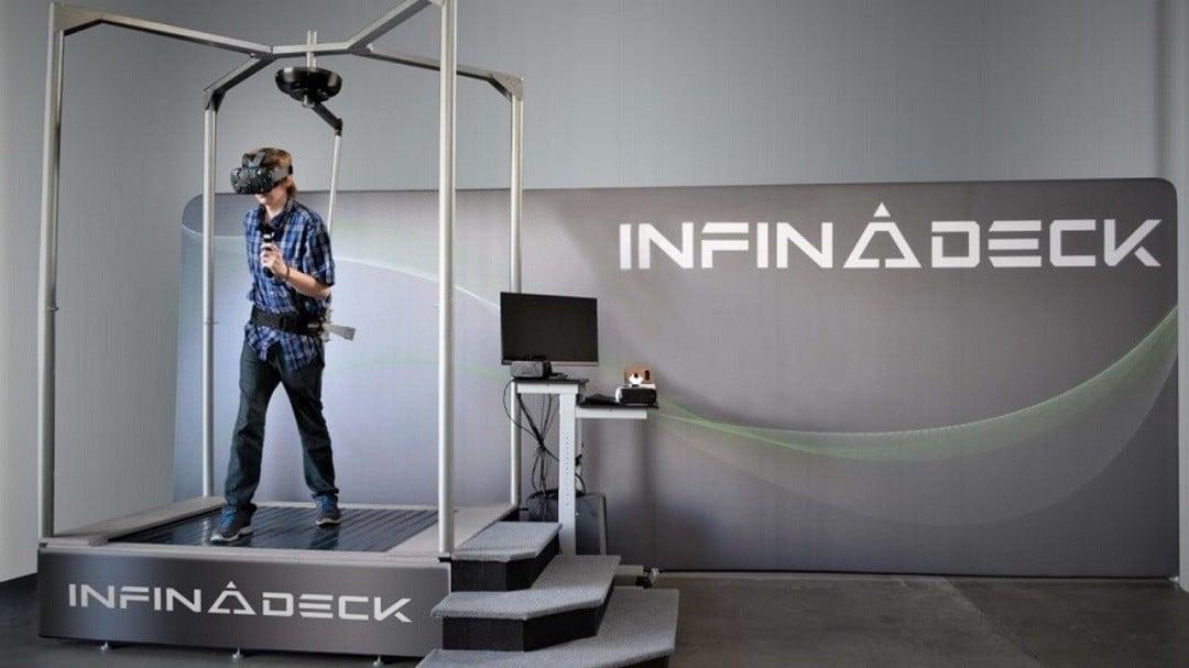 Infinadeck tapis roulant réalité virtuelle