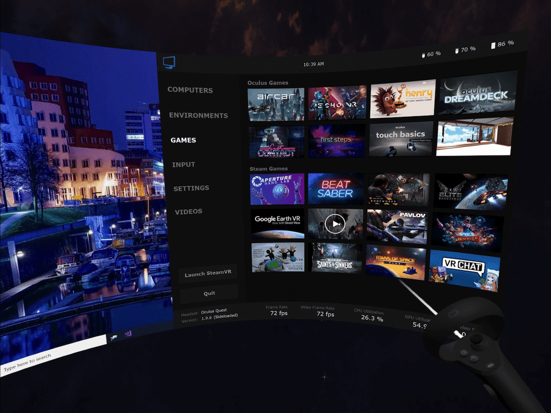 Jeu Oculus Crossbuy virtual desktop