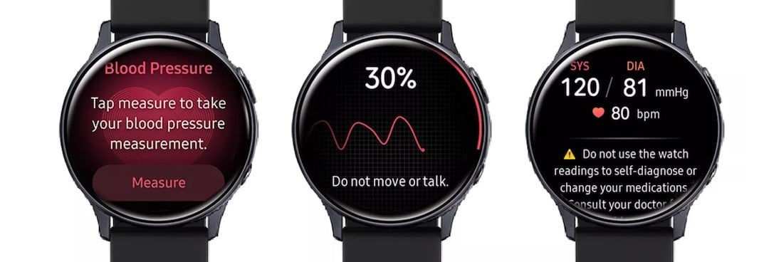 Samsung Health pression artérielle Galaxy Watch 3